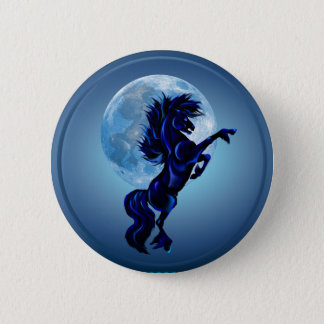 Rearing Stallion and Blue Moon-Button Button