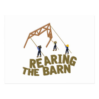 Rearing the Barn Postcard