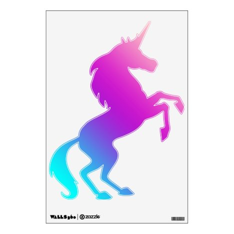 Rearing Unicorn Decal - Blues, Purples, Pinks