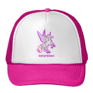 Rearing Unicorn Guardian Angel Mesh Hat