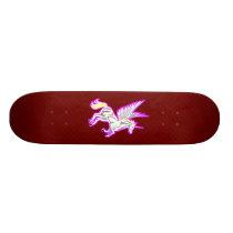 Rearing Unicorn Guardian Angel Skateboard
