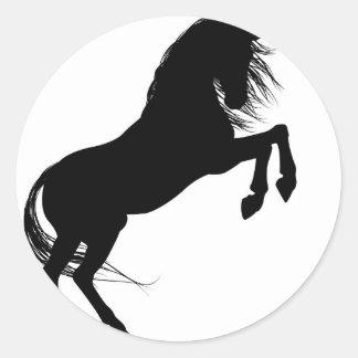 Rearing Unicorn Silhouette Classic Round Sticker
