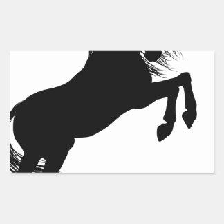 Rearing Unicorn Silhouette Rectangular Sticker