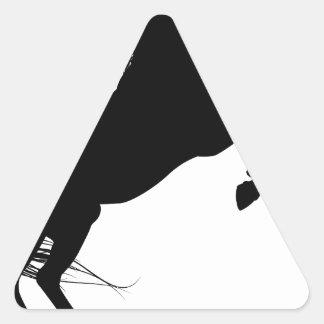 Rearing Unicorn Silhouette Triangle Sticker