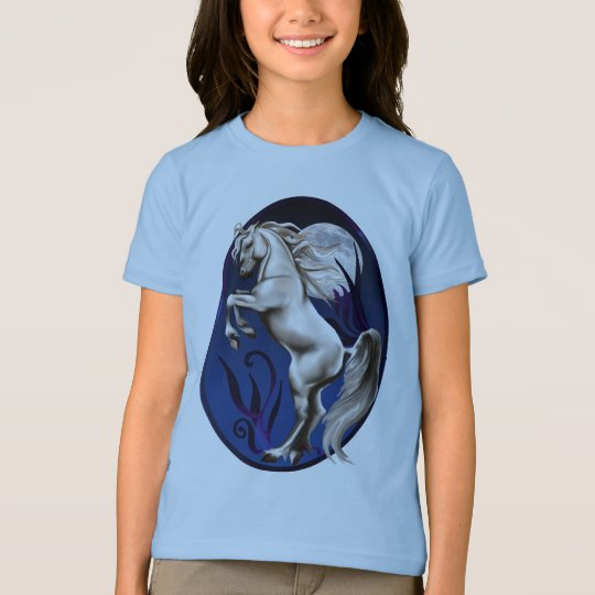 Rearing White Horse Oval Shirt