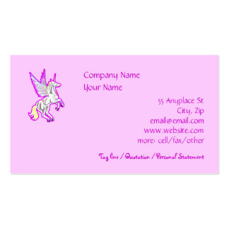 Rearing Winged Unicorn Business Card Template