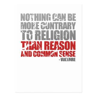 Reason and Common Sense Postcard