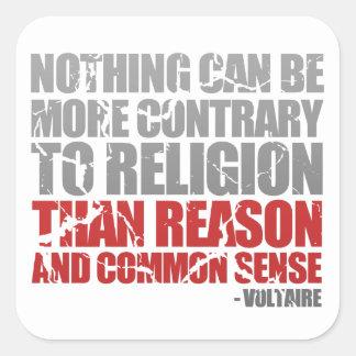 Reason and Common Sense Square Sticker