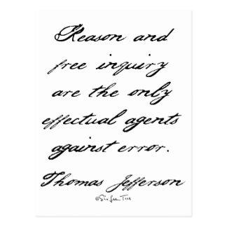 Reason by Jefferson Postcard