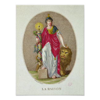 Reason, engraved by Carre, 1793 Poster