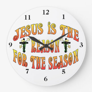 Reason For The Season Easter Large Clock