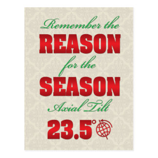 Reason for the Season Winter Solstice postcard