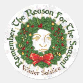 """""""Reason For The Season"""" Winter Solstice Sticker #2"""