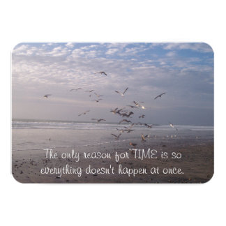 Reason for Time Quote Card