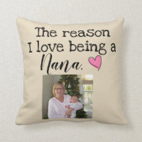 reason i love being a nana personalized throw pillow
