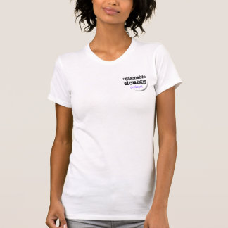Reasonable Doubts small logo on white T-Shirt