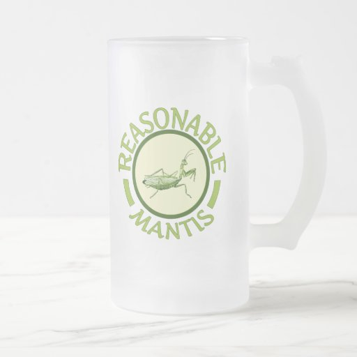 Reasonable Mantis 16 Oz Frosted Glass Beer Mug