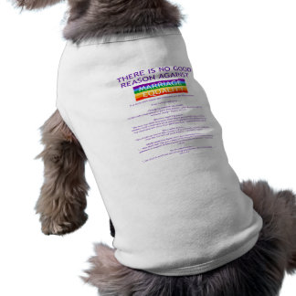 Reasons Doggie T-shirt