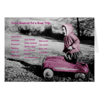 Reasons for a Road Trip hot pink card