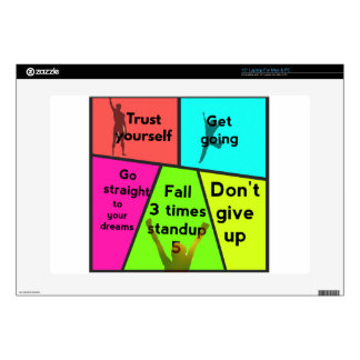 Reasons for suceeding in life laptop skin