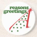 Reasons Greetings Beverage Coaster