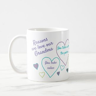 Reasons I Love Grandma Custom Coffee Mug