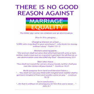 Reasons Postcard
