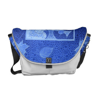 Reasons sheets and fish in blue courier bag