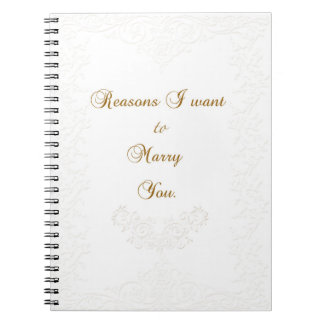Reasons to Marry You Journal