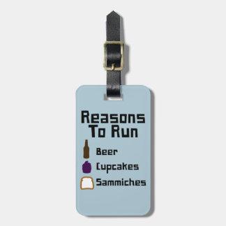 Reasons To Run Travel Bag Tag