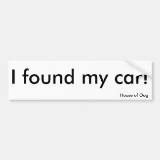 Reassurance at last! bumper sticker