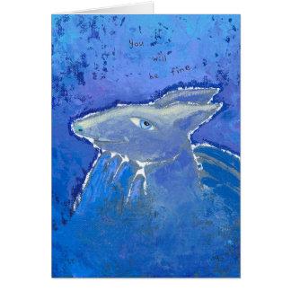 Reassuring Armadillo prediction ART Greeting Card