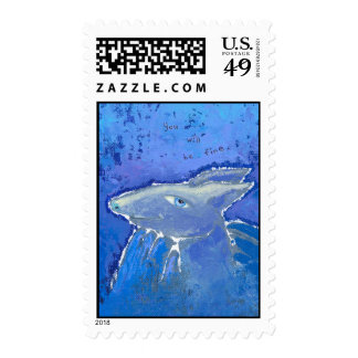 Reassuring Armadillo prediction ART Postage Stamps