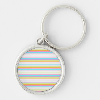 Reassuring Poised Favorable Prepared Silver-Colored Round Keychain