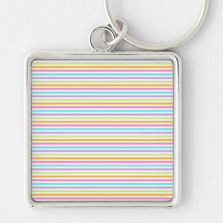 Reassuring Poised Favorable Prepared Silver-Colored Square Keychain