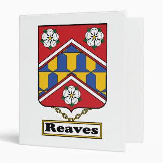 Reaves Family Crest 3 Ring Binder