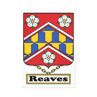 Reaves Family Crest Gallery Wrapped Canvas