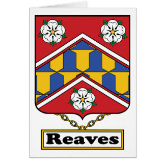 Reaves Family Crest Greeting Card