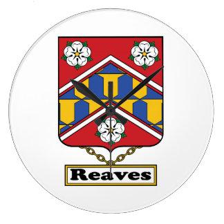 Reaves Family Crest Wall Clocks