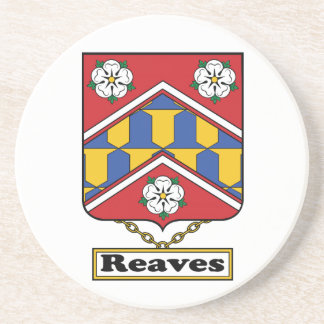 Reaves Family Crest Drink Coaster