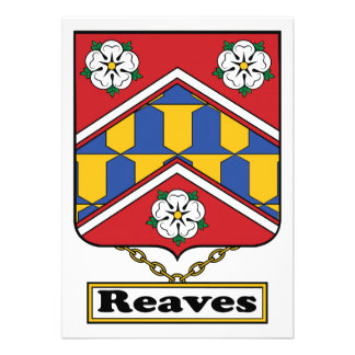Reaves Family Crest Personalized Announcements