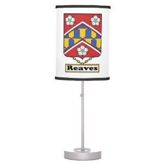 Reaves Family Crest Desk Lamps