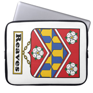 Reaves Family Crest Computer Sleeve