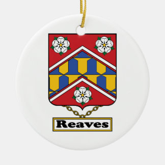 Reaves Family Crest Christmas Ornaments