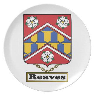 Reaves Family Crest Dinner Plate