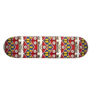 Reaves Family Crest Custom Skate Board