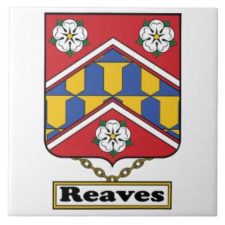 Reaves Family Crest Ceramic Tiles