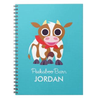 Reba la vaca libro de apuntes con espiral