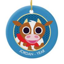 Reba the Cow Ceramic Ornament