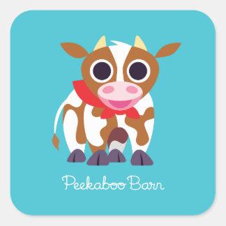 Reba the Cow Square Sticker